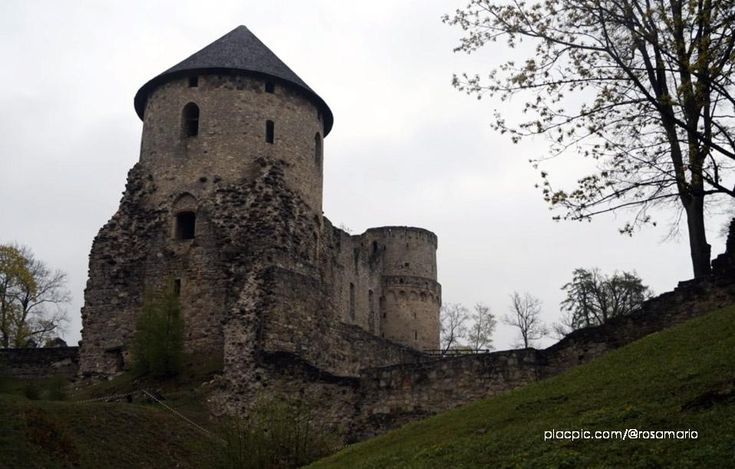 Cēsis Castle in Latvia is a beautiful castle ruins in the Baltic states. Once considered the most important castle of the Livonian Order, It was partly destroyed during the Great Northern War.