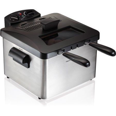 Hamilton Beach Professional-Style Deep Fryer , Model# 35036, Silver