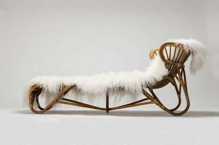 Rare Franco Albini Chaise Lounge