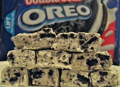 Oreo Cookie Fudge  20 Oreos  1 Can Condensed Milk  3 Cups White Chocolate Chips  7 Oz Marshmellow Creme  1 Tea Spoon Vanilla #Christmas #thanksgiving #Holiday #quote