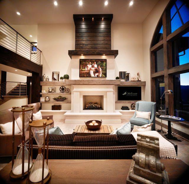 fireplace.shelves.decor | www.mcewancustomhomes.com