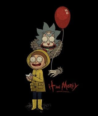 """It and Morty"" (made by @kensuke.creations on instagram) : rickandmorty"