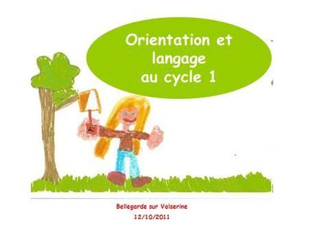 Orientation et langage au cycle 1 Bellegarde sur Valserine 12/10/2011.
