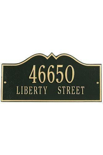 Hillsboro Two-Line Standard Wall Address Plaque - standard/2 line, Black by Home Decorators Collection. $125.00. Hillsboro Two-Line Standard Wall Address Plaque - It's Your Own Little Corner Of The World - So Why Not Mark It With Pride? A House Sign Announces A Message Of Distinction. These Premium, Textured And Dimensional Address Plaques Are Designed With Large Letters And Numbers For Maximum Visibility. Choose From Our Exceptional Array Of Custom Address Plaques T...