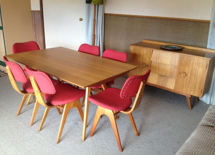 1950s Form Line dining suite and sideboard by Fler