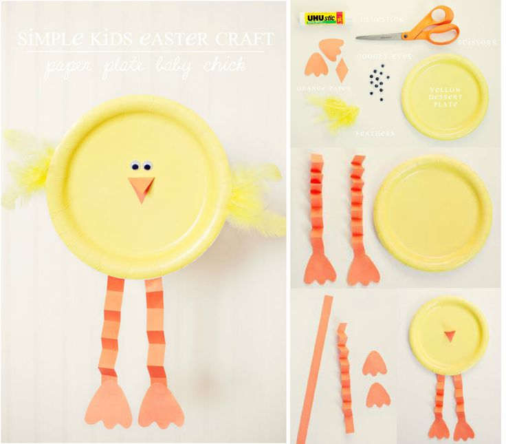 Paper Plate Baby Chick!