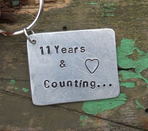 11 Years Counting 11th Wedding Steel Anniversary Gift Eleven Marriage Keyring In 2020 11th Wedding Anniversary Gift 11th Anniversary Gifts 11th Wedding Anniversary