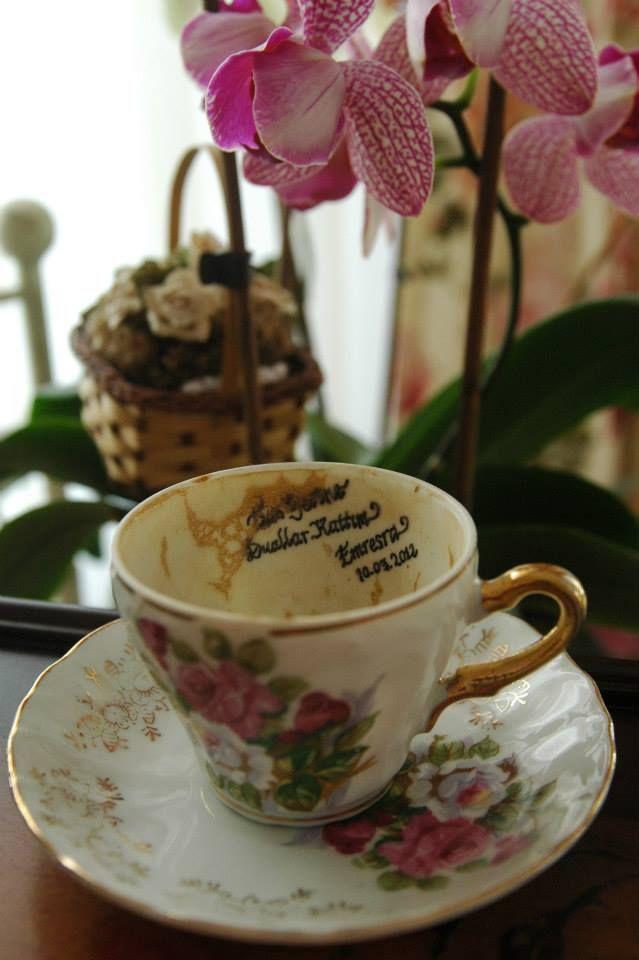 Kız isteme merasiminde kahve fincanı