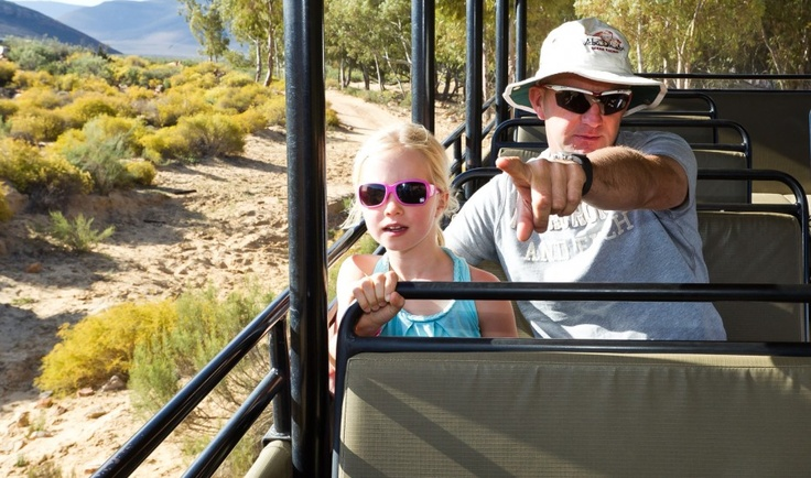 Abu Dhabi Ocean racing skipper Ian Walker and family on safari during the Volvo Ocean Race 2011-12 Cape Town stopover.
