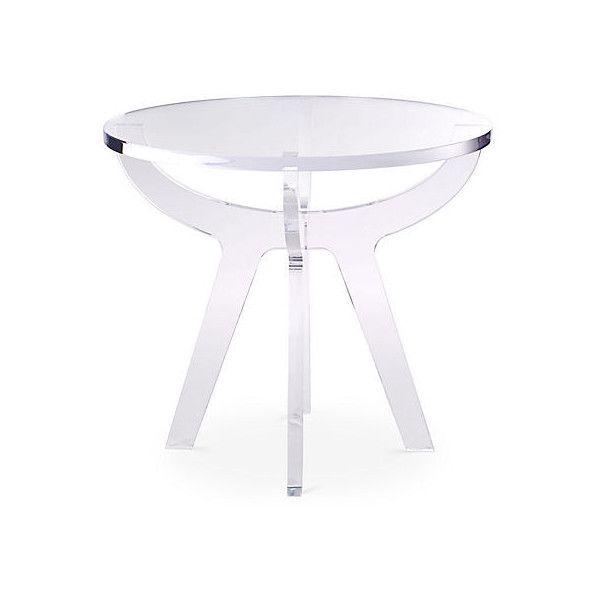 Antigua Side Table Acrylic / Lucite Standard Side Tables (1 555 AUD) ❤  Liked. Plexiglass ...