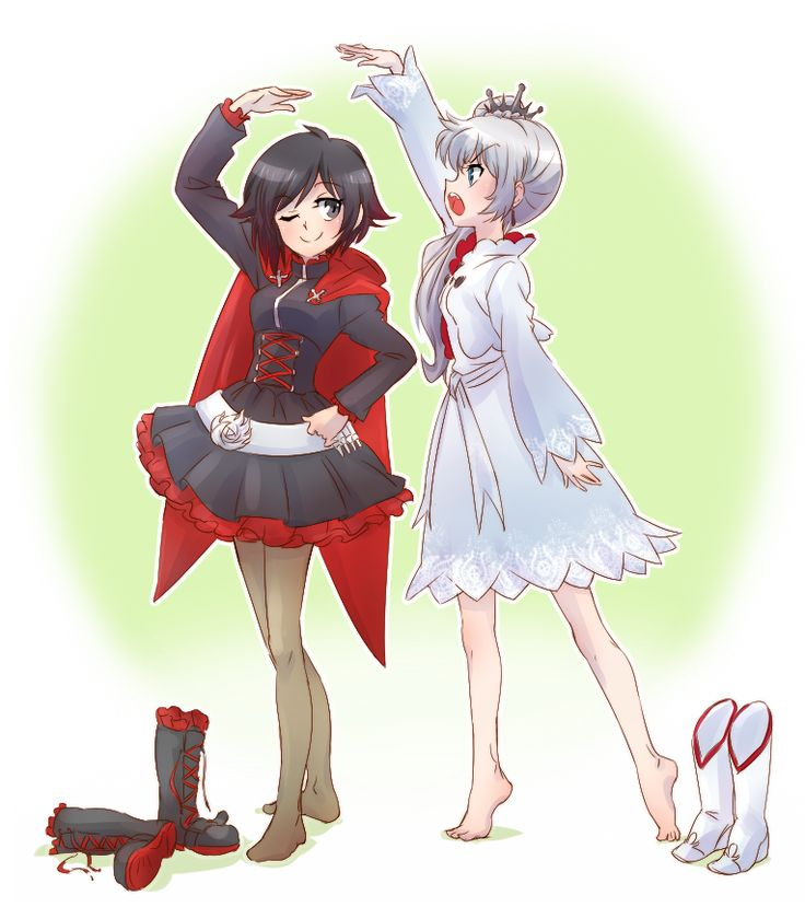 RWBY-Ruby And Weiss.