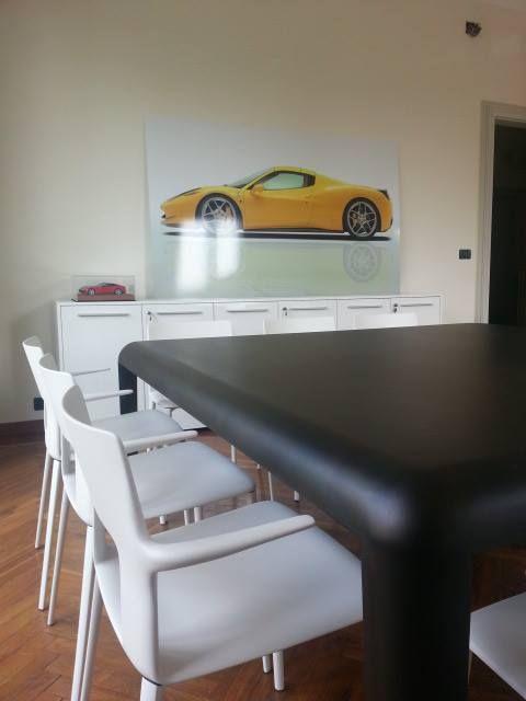 Ferro | Porro S.p.A. | 190x190 Bronze Effect Finish Monolithic Table Kobe | Desalto | Baydur in White Chair #Desalto #Porro