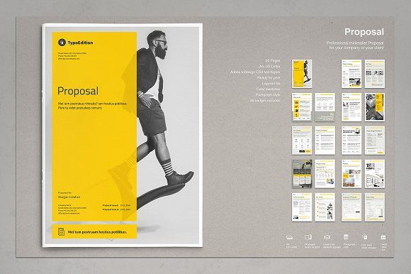 Business Proposal by TypoEdition on @creativemarket