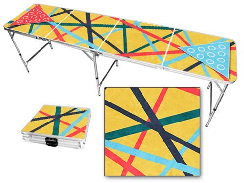 Abstract design beer pong table - Wide Range of Beer Pong Tables - Skip's Garage #skipsgarage #skipsbeerpong #beerpong #amazon #beerpongtable #collegeparty #abstract