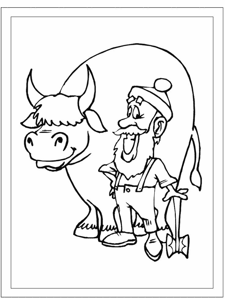 paul bunyon coloring pages - photo#23