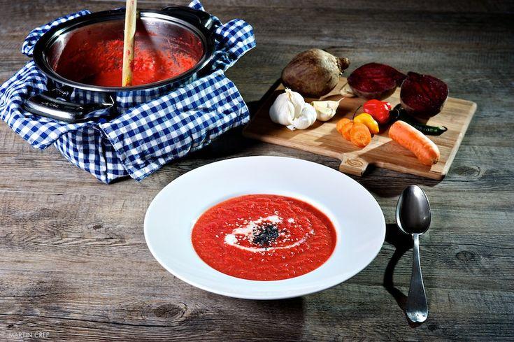 Cviklovo mrkvová polievka