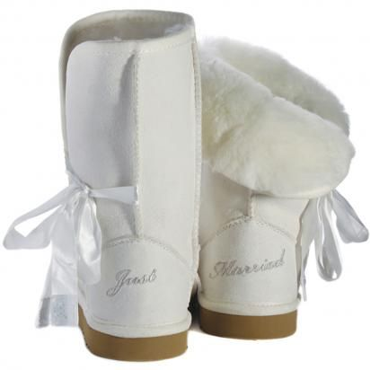 Wedding Uggs!! I want to wear these on the plane on our way to honeymoon ;)