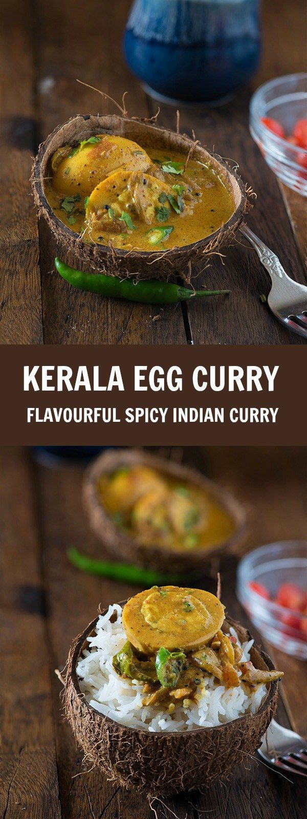 Kerala egg curry recipe is quick, easy and spicy Kerala style egg curry cooked in coconut milk. This is also known as Nadan Mutta curry. This recipe is an authentic hotel style Kerala egg curry which is served with Chapati, rice, Malabar parotta, Idiyappa