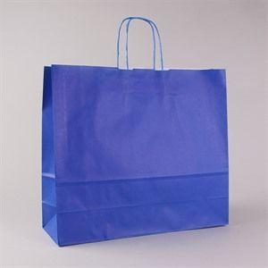 Premium-Papiertragetaschen mit Kordelgriffen meerblau