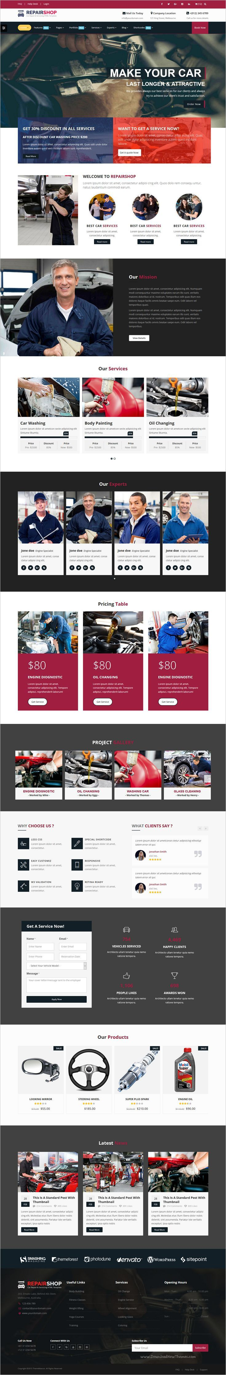 RepairShop is a wonderful responsive #HTML #Bootstrap template for car #repair, garage or #auto center website download now➩ https://themeforest.net/item/repairshop-car-repair-car-wash-responsive-html5-template/18955715?ref=Datasata