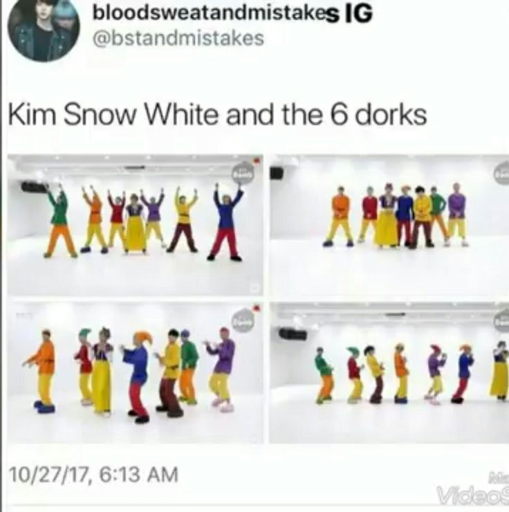 BTS Go Go dance Halloween special Kim Snow White and the 6 dorks