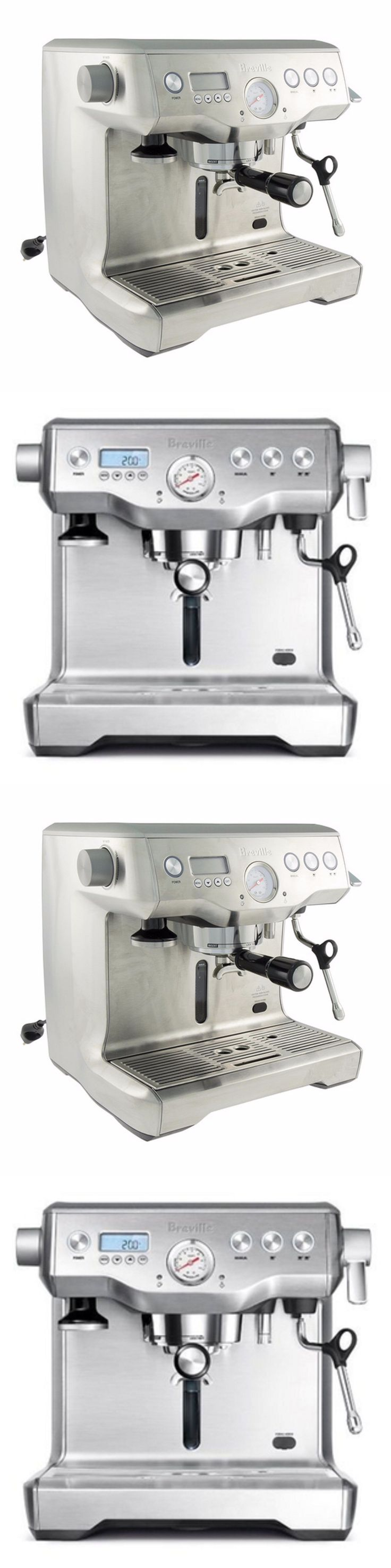 appliances: Stainless Espresso Machine Coffee Maker Italian Dual Boiler Steam Commercial BUY IT NOW ONLY: $1687.59