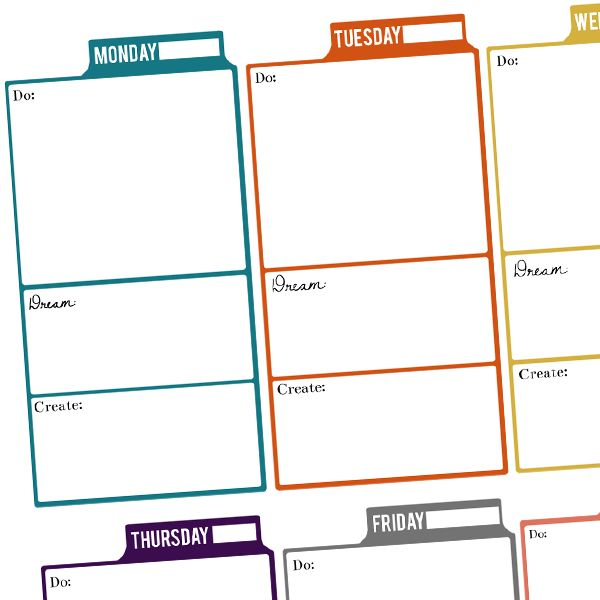 25 best images about weekly planner uge skemaer on for Make a planner free