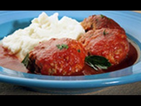 Sausage Meatballs with Tomato Sauce - Chef Nick Stellino - YouTube