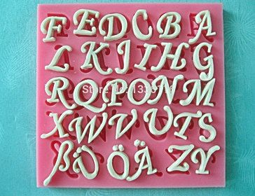 26 English Letters Silicone 3D Mold Cookware Dining by Crapitall