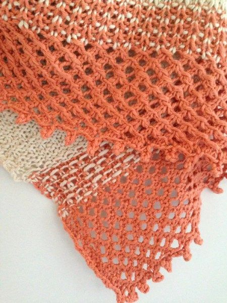 Welcome back to Free Pattern Friday, as fresh new free pattern every week! Today's offering is the lush cotton triangle, Big Island Wrapper!