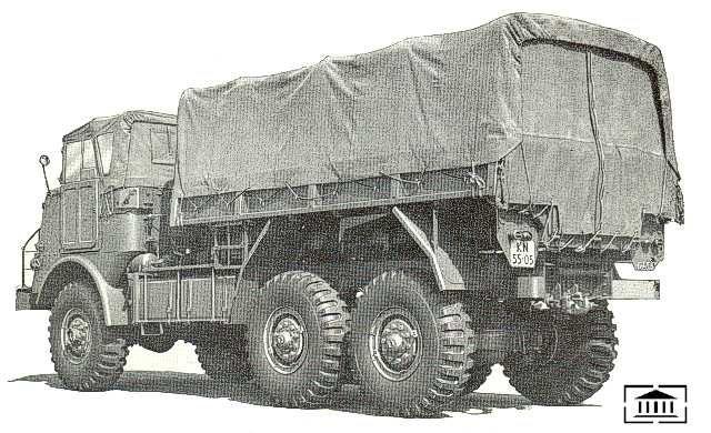DAF YA-616, Vrachtwagen 6 ton, 6x6, 24 V