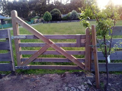 My Weekend project - a classic Kiwi wooden farm gate. We recently bought the section behind the house, so I cut out a section of the fence and put in the gate to make it easier to get access.