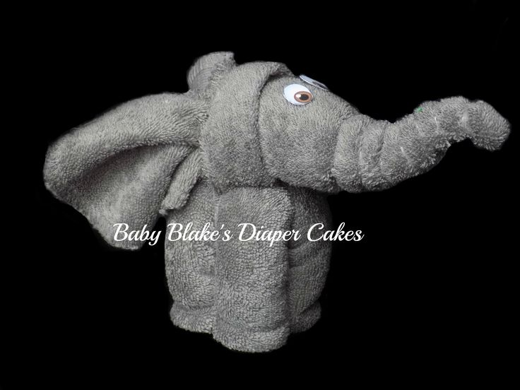 Best 25 elephant diaper cakes ideas on pinterest girl diaper made from two grey baby washcloths this elephant creation is a great addition to any diaper cake or order a few as party favours or gifts for your negle Images