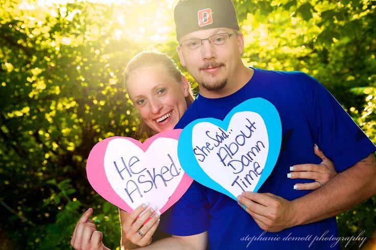 Stephanie DeMott Photography, Engagement photos, Engagement, Engagement ideas, Engagement Photography, Photography, Love, Engagment poses, Funny, Funny engagement poses