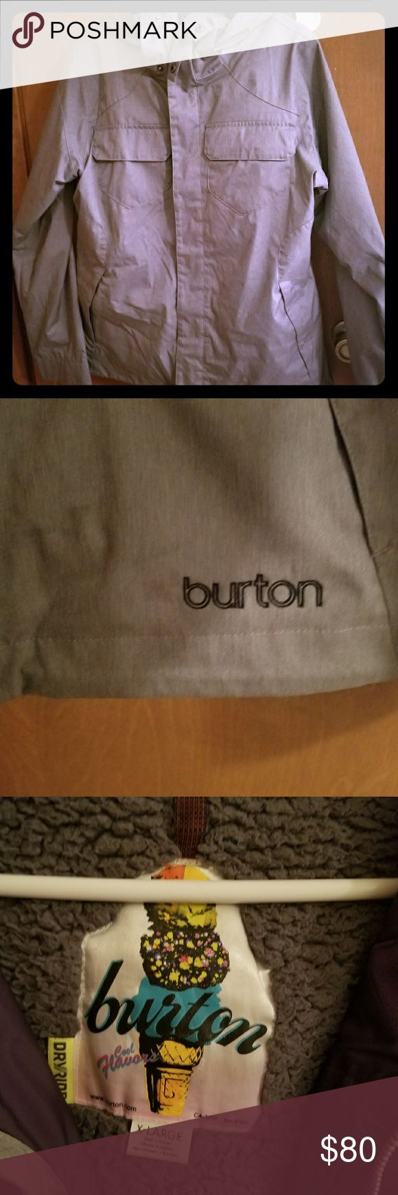 Grey and Purple Burton Snowboarding Jacket XL Gently used, still in good condition Burton Jackets & Coats