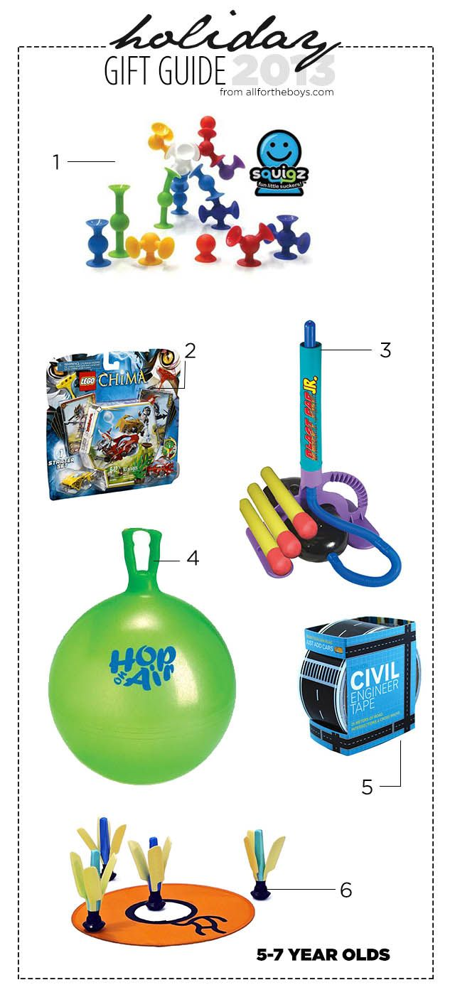 2013 Holiday Gift Guide: 5-7 Year Olds | All for the Boys ...