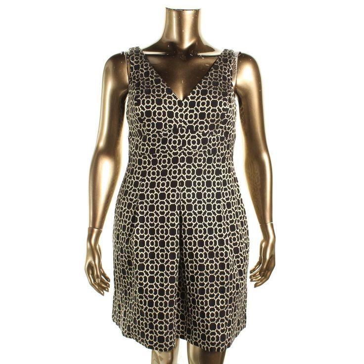 Lauren Ralph Lauren Womens Petites Metallic Jacquard Cocktail Dress