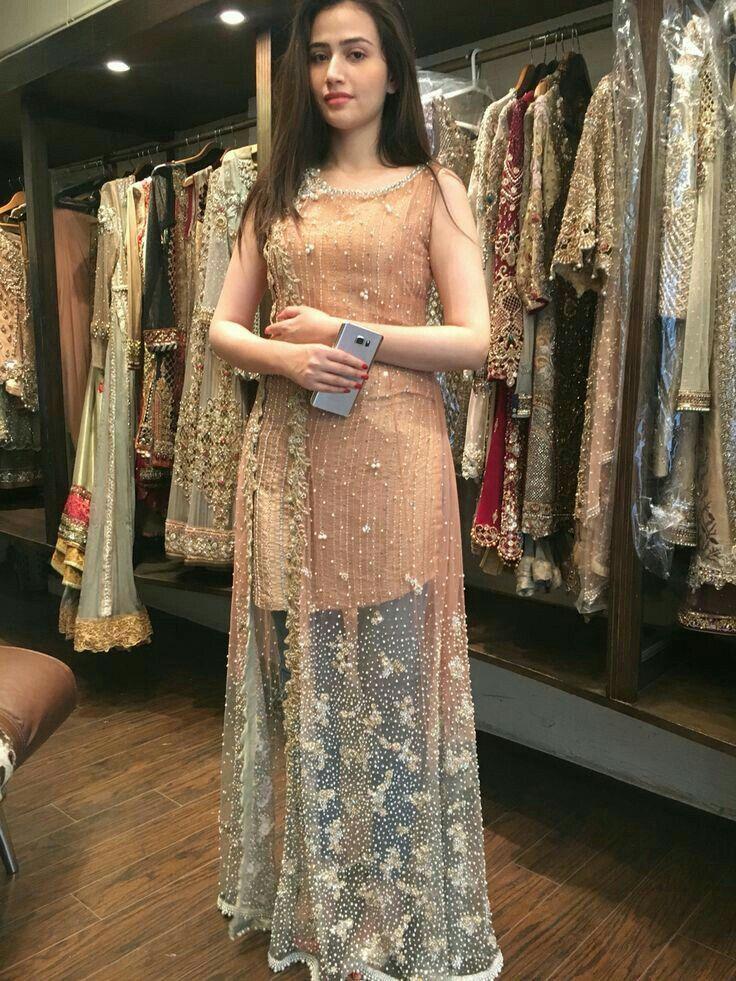 Sana Javed Pakistani Dress Design Party Wear Dresses
