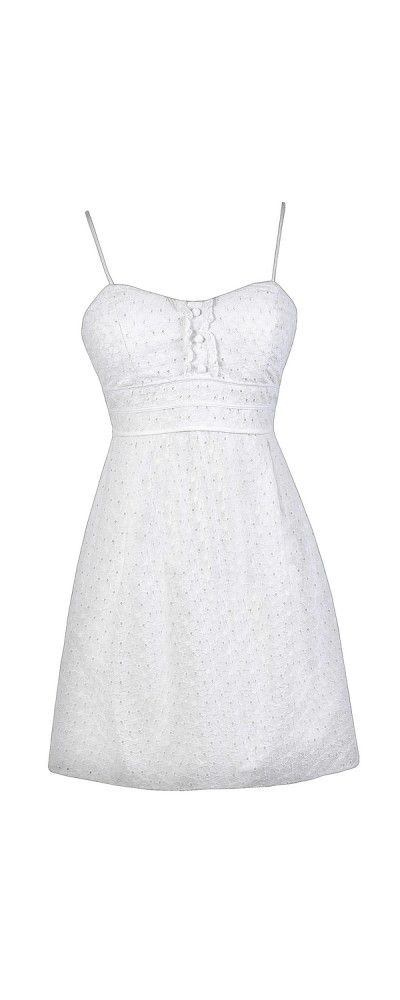 Happy Graduation Day White Eyelet Sundress  www.lilyboutique.com
