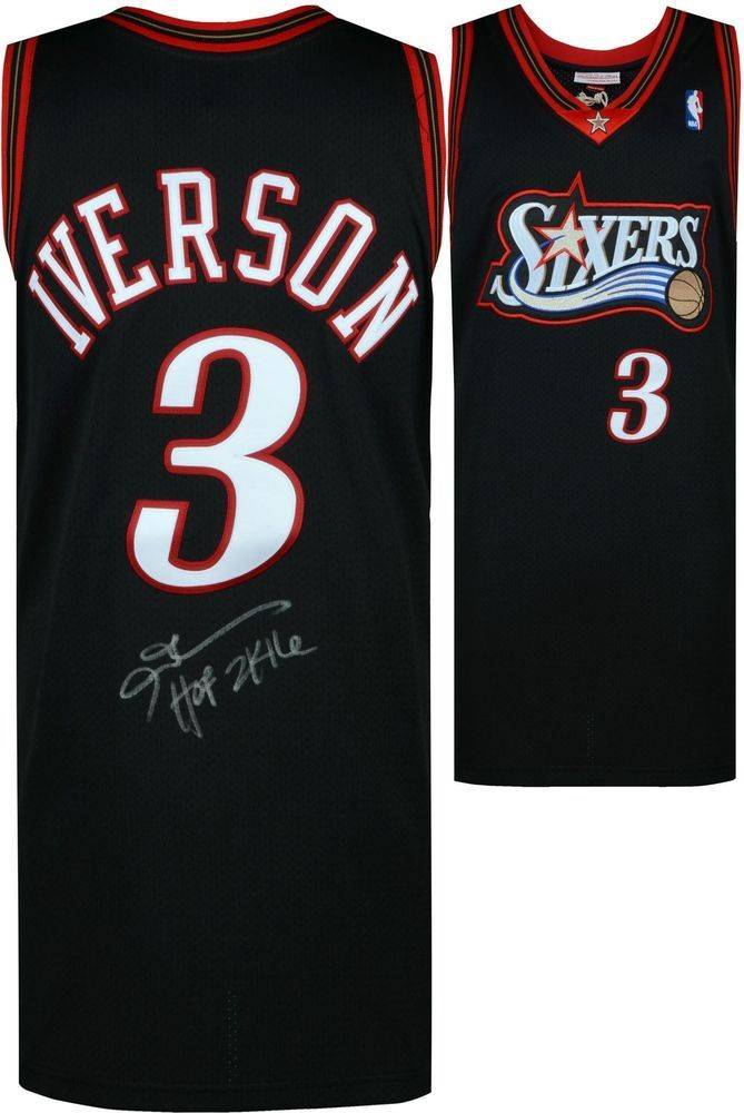1e87b9f69634 Autographed Allen Iverson 76ers Jersey Fanatics Authentic COA Item 8620683   Basketball