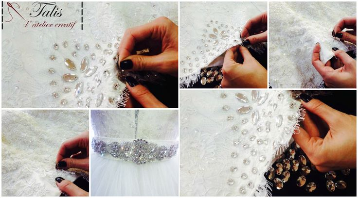 This bride gown's details look simply lovely :)