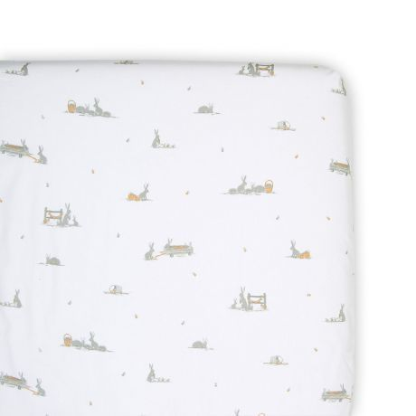 Cot Fitted Sheet - Cotton Tail - The Little Linen Company Australia