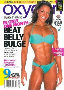 Best fitness magazine for women ever: no fluff! And Alicia Harris has a killer body. sports-and-fitness great-abs