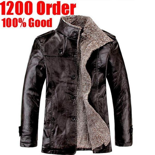 Зимние кожаные пальто мужское