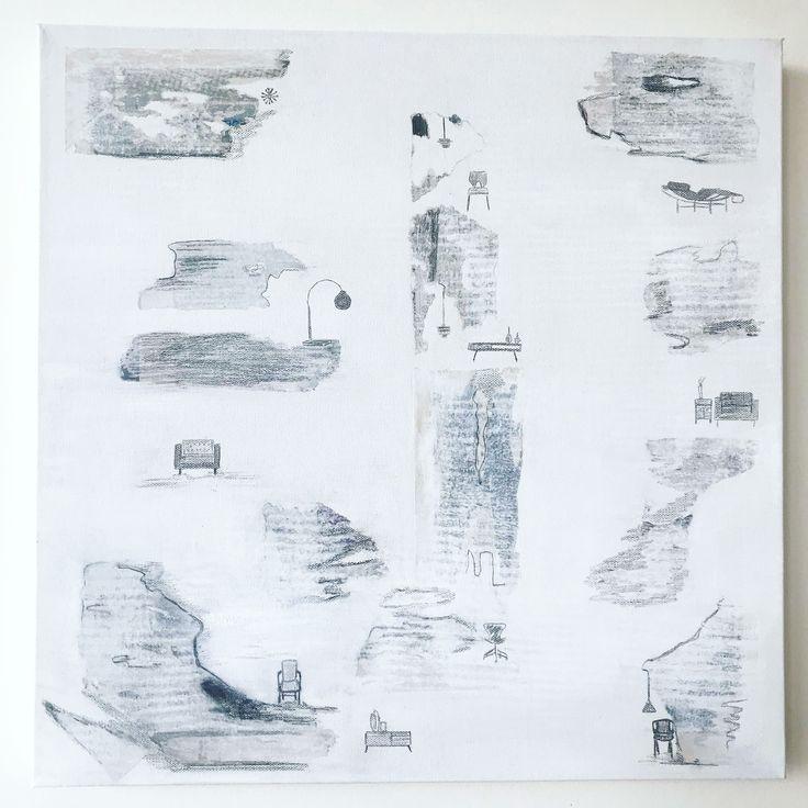 D E S I G N E R  White/ Grey Pencil #art #abstract #designer #furniture #decor #contemporary