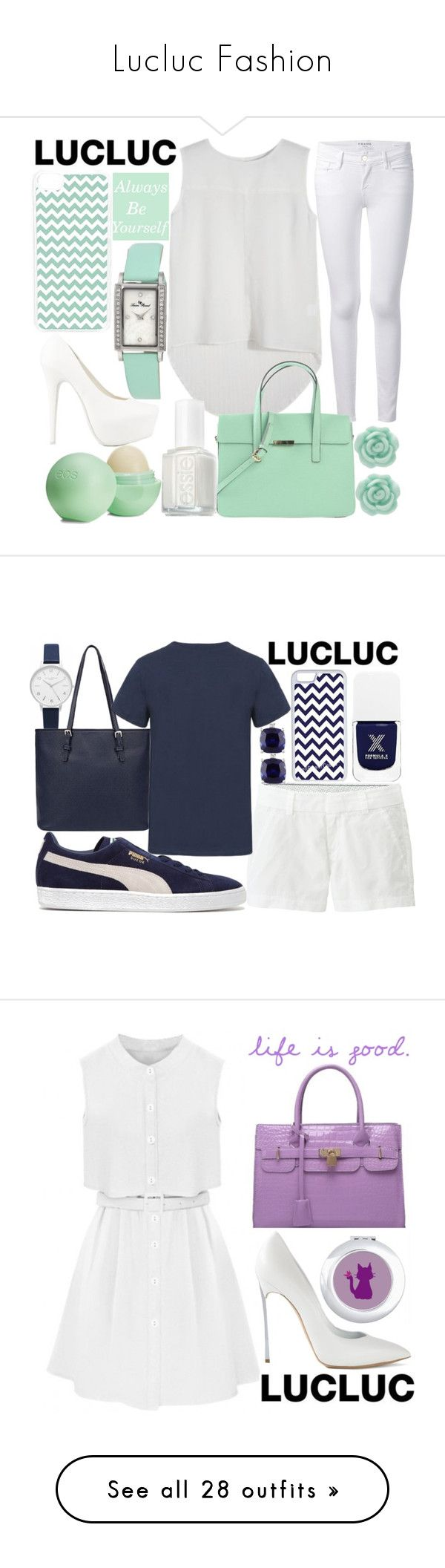 """""""Lucluc Fashion"""" by j-n-a ❤ liked on Polyvore featuring Frame, Nly Shoes, Lucien Piccard, CellPowerCases, Eos, Essie, LC Lauren Conrad, Olivia Burton, Miadora and Sephora Collection"""