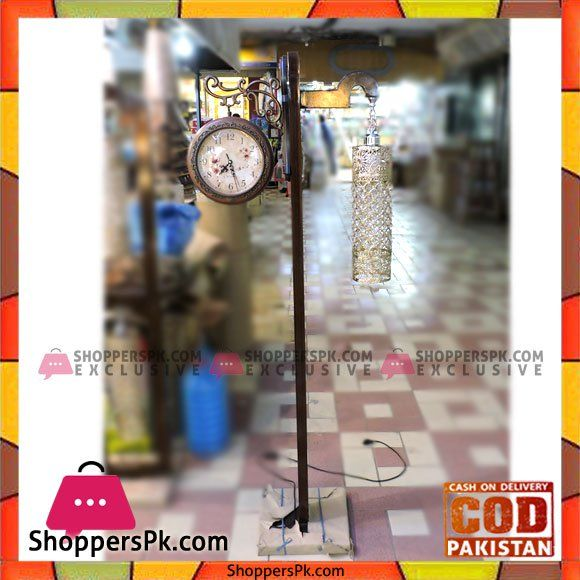 On Sale: High Quality Wooden Floor Lamp And Clock Price Rs. 7200 https://www.shopperspk.com/product/high-quality-wooden-floor-lamp-and-clock/