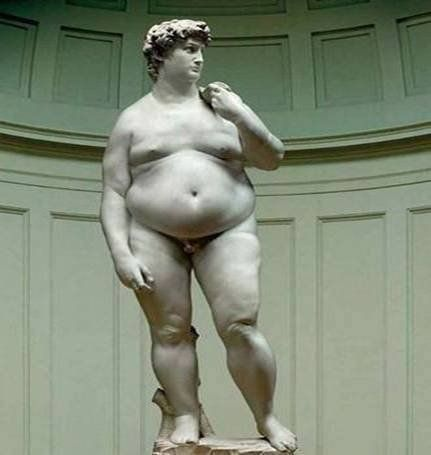 """After a two year stay in the United States, Michelangelo's """"David"""" returned to Italy."""