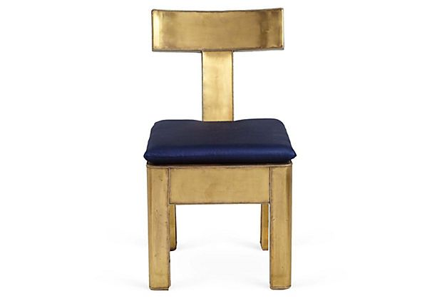 Brass Chair / OneKingsLane.com: Chairs Moroccan, Swanki Seats, Moroccan Bazaars, Brass Chairlov, Brass Chairs Lov, Furniture Paintings, Fun Furniture, Moroccan Brass, Products