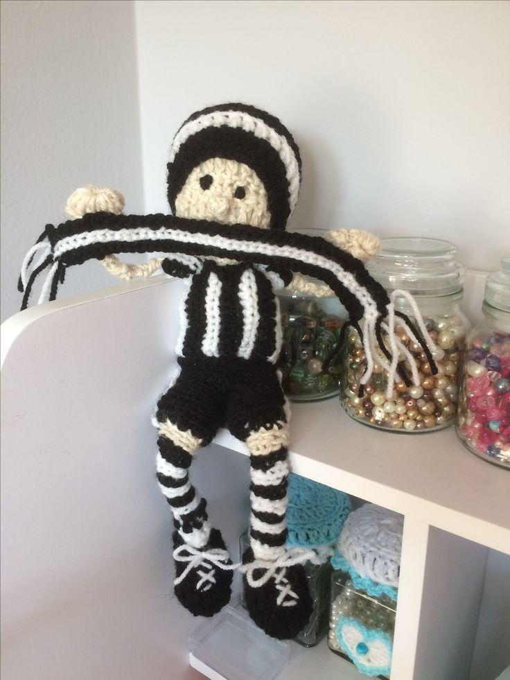 Newcastle United Football Crochet Doll